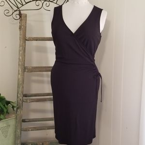 LOFT ruched wrap tie dress